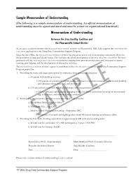 8 best images of sample memorandum of understanding agreement