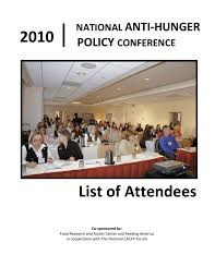 2010 list of attendees food research u0026 action center