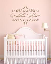 Personalized Nursery Wall Decals Personalized Baby Nursery Name Vinyl Wall Decal Shabby