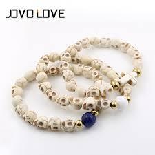jewelry beads bracelet images White skull beads casual jewelry chain bracelet fashion jewelry jpg