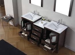 virtu usa dior 66 double bathroom vanity set in espresso