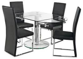 Dining Room Glass Kitchen Dining by Glass Dining Table Dining Furniture Ebay