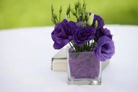 purple wedding centerpieces purple flower centerpieces for summer weddings lovetoknow