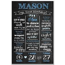 1st birthday chalkboard