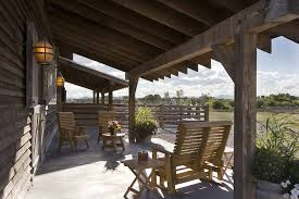 Covered Patio Decorating Ideas by Mountain Style Patio Decorating Ideas Patio Rustic With Rustic