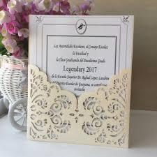 50pcs laser cut glamorous wedding invitations decoration card