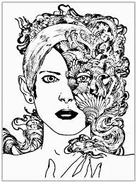 coloring page of faces coloring page pedia