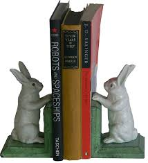 bunny bookends okuden cast iron gifts