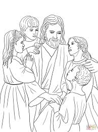 african american and caucasian children coloring sheet