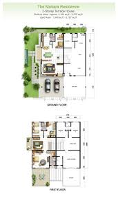 terraced house floor plans housing plans home design