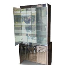 Mirrored Bar Cabinet Vintage Mirrored Ello Bar Cabinet Chairish