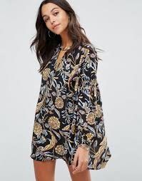 boohoo clothes boohoo plus clothes boohoo floral plunge a line smock dress black