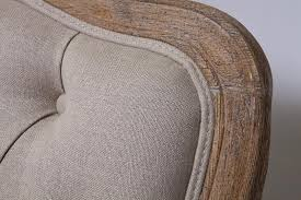 French Linen Armchair French Armchair