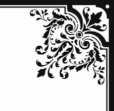 corner floral ornament png svg clip for web clip