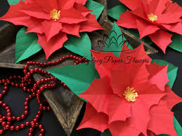 files only poinsettia paper flower template with pdf svg paper