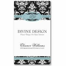 home interior business interior decorating business cards