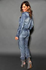 sleeve denim jumpsuit chic sleeves safari style denim jumpsuit my styles
