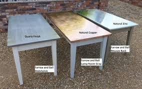 Copper And Zinc Topped Tables - Copper kitchen table