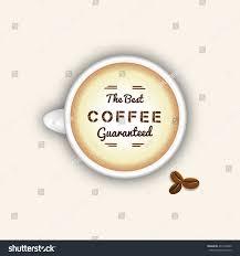 coffee cup top view best coffee stock vector 432100039 shutterstock