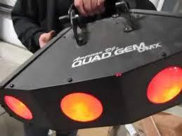 Used Dj Lighting Used American Dj Quad Gem Led 4 Head Dmx Moonflower Beam Light