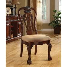 Dining Chair Cherry Furniture Of America Carpia Formal Cherry Brown Upholstered Dining