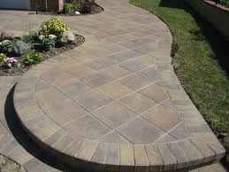 Pavers Patios Garden Ideas Backyard Paver Patio Designs New Impression From