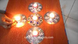 diwali diya decoration ideas at home kolam by sudha balaji