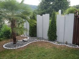 Steingarten Mit Granit Gestaltung Garten Sichtschutzwaende Lecker Auf Interieur Dekor