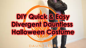 quick u0026 easy diy divergent dauntless halloween costume youtube