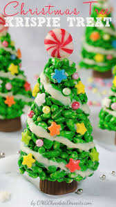 Tree Decorations For Cakes Christmas Tree Krispie Treat Omg Chocolate Desserts