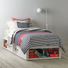 Storage Beds Topside Storage Kids Bed White The Land Of Nod