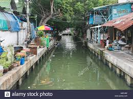 Thai Homes Local Thai Homes Overlooking Canal In Bangkok Stock Photo Royalty