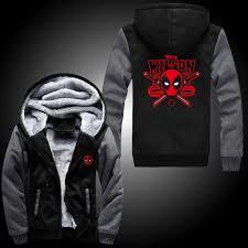aliexpress com buy 2017 deadpool super warm thicken fleece zip