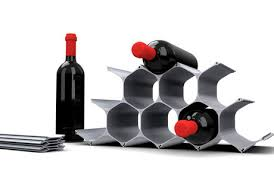 touch of modern futuristic watches honeycomb wine racks playful