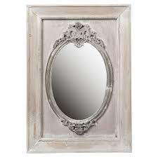 porte eponge mural miroir mural ovale gris en bois
