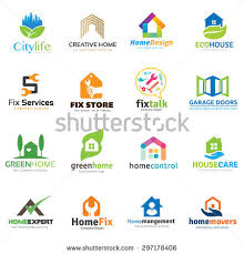Home And Design Logo Creative Home Vector Logo Template Stock Vector 296045522