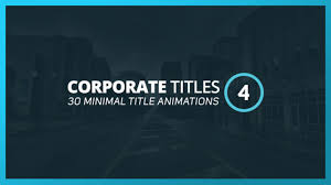 corporate titles 4 after effects template on vimeo
