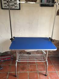 used dog grooming table fix height dog grooming table with h bar barely used and good