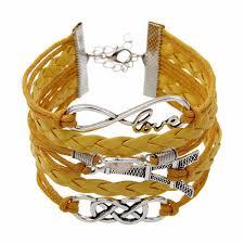infinity love leather bracelet images Yellow eiffel tower multilayer bracelet brandverto jpg