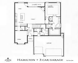 3 Car Garage Plans Hamilton With 3 Car Garage Admire Custom Homes
