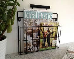 Free Home Decor Magazines Uk by Furniture Ergonomic Rustic Wall Mounted Magazine Rack Decor