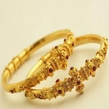 ladies bracelet gold jewelry images Plain gold jewellery gold ladies kangan manufacturer from surat jpg