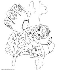 printable sofia the first coloring pages