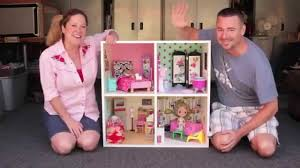 My Homemade Barbie Doll House by Diy Modern Bookshelf Dollhouse With Cathie U0026 Steve Youtube