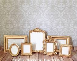 gold picture frames etsy