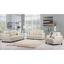 innovative beige leather living room set sofa amusing beige