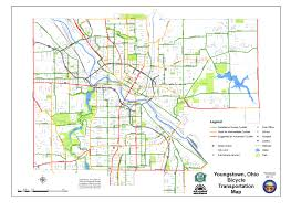 Ohio City Map Youngstown Bike Maps
