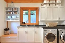 Shelf Ideas For Laundry Room - good looking shelving ideas for laundry room with dark gray countertop
