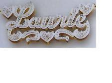 Name Plated Necklace Double Name Plate Necklace Ebay