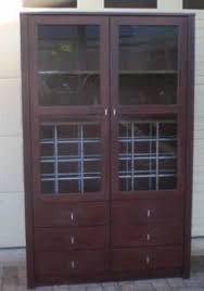 Modern Display Cabinet Australia Beautiful Solid Wood 2 Door Mirrored Back China Cabinet Cabinets